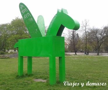 Un pegaso verde
