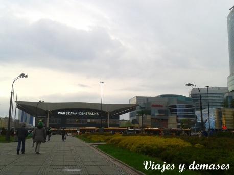 La estación de trenes de Varsovia