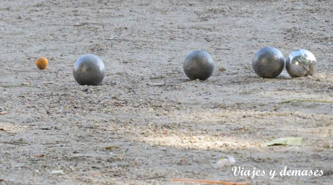 Las bolas de la petanque.