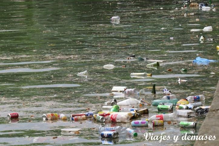 Me imaginé el océano lleno de basura....