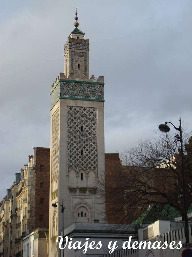 Este es el minarete de la mezquita.