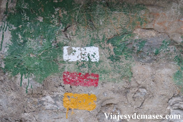 Estas marcas indican el tipo de sendero.