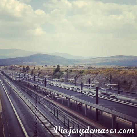 La estación del AVE Segovia-Guiomar.