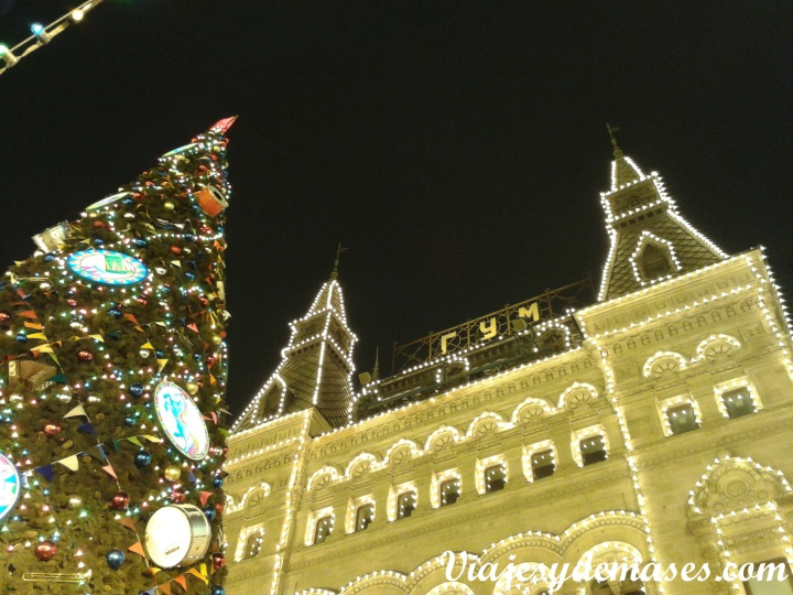 Luces en la Plaza Roja
