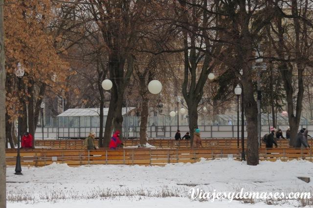 Pista de patinaje parque Gorki