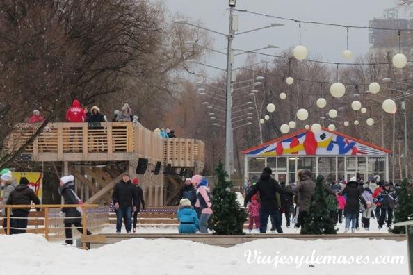 Pista de patinaje parque Gorki Rusia