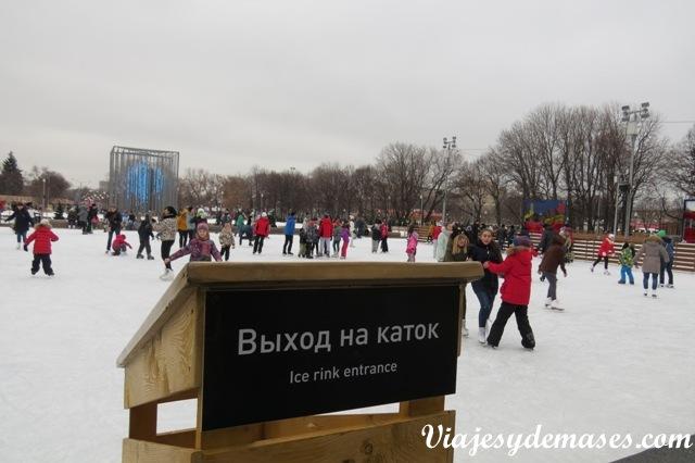 Cancha de patinaje parque Gorki Rusia