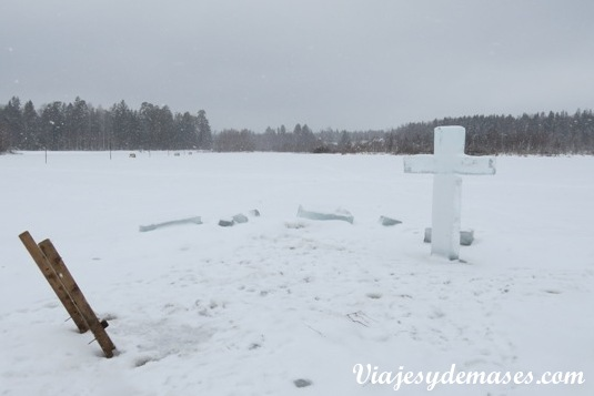 Lago congelado Ognikovo Rusia