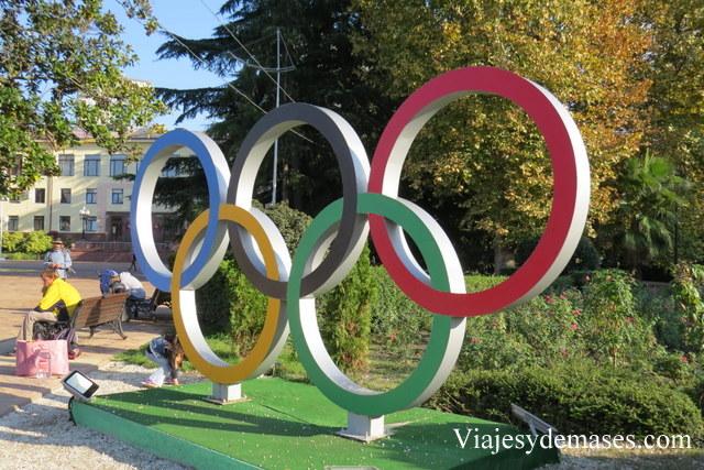 Anillos olímpicos Sochi 2014
