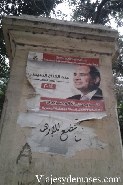 Propaganda política Egipto.