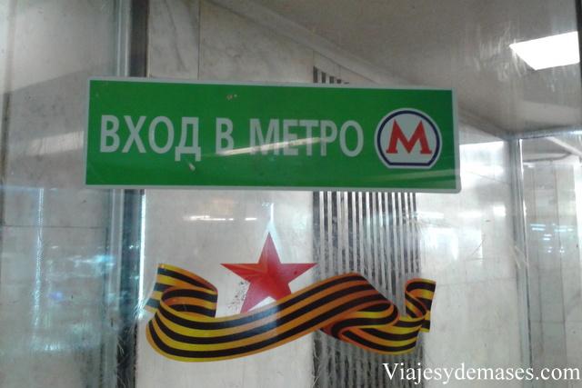 Entrada al metro de Moscú.