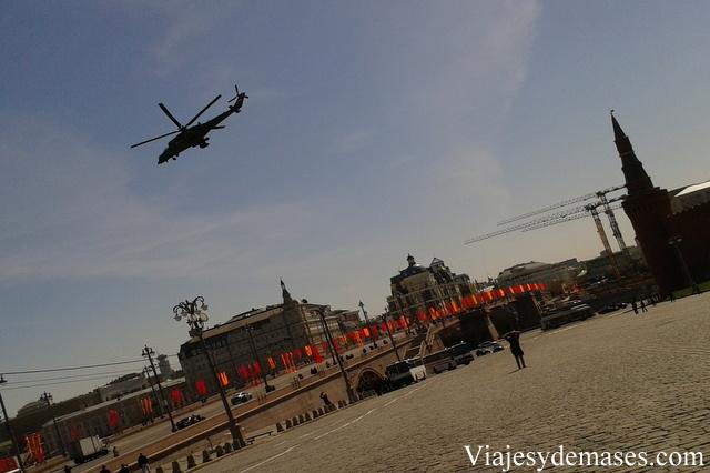Este helicóptero salió desde el Kremlin.