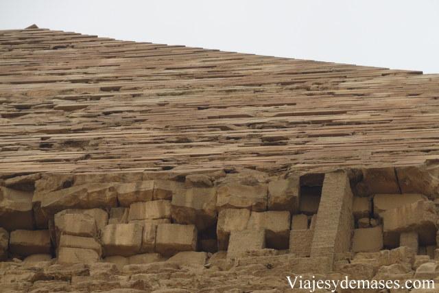 Detalle de la pirámide de Kefrén.