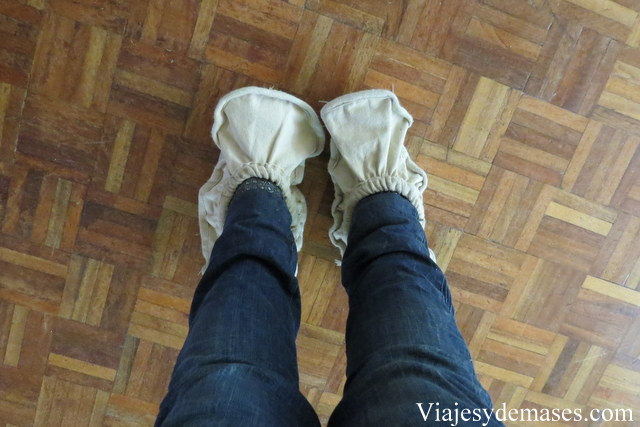 Cubre zapatos ecológicos.