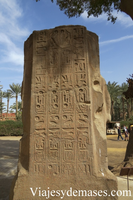 Estela hieroglífica, Memphis Egipto.