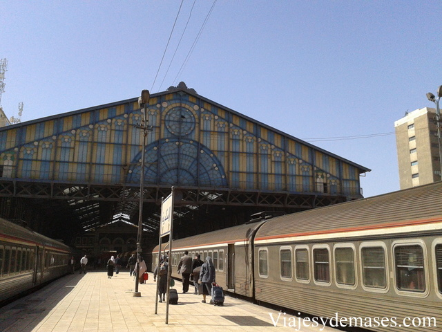 La estación de tren de Alejandría.