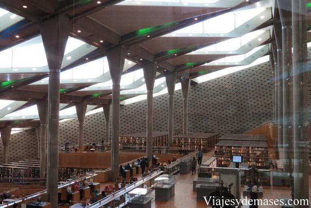 Interior de la Interior de la biblioteca.