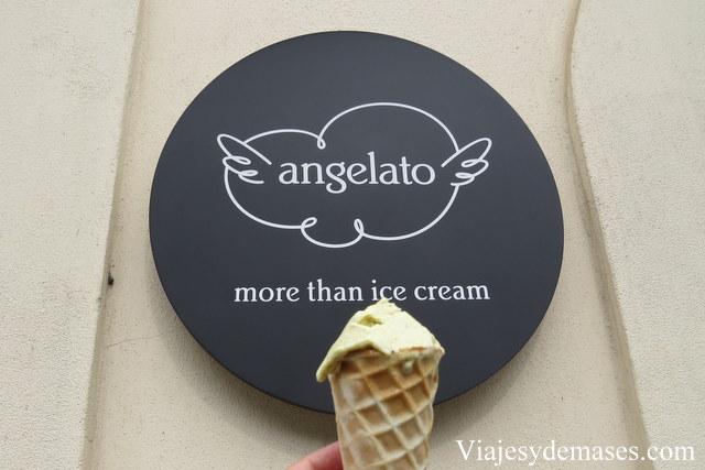 Mi helado de pistacho.