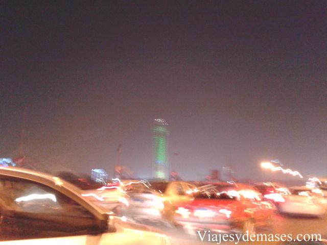 Foto tomada a la velocidad del auto.