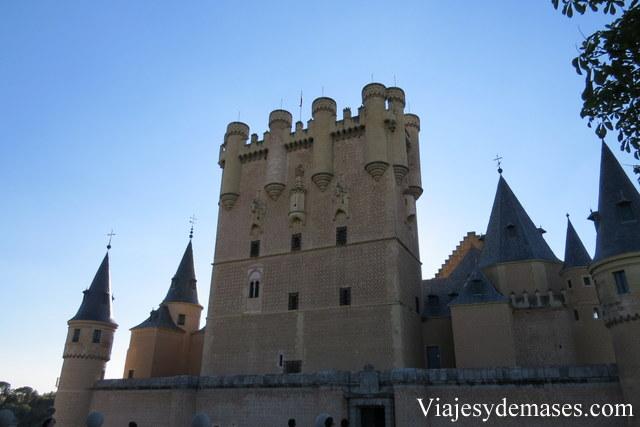 El Alcázar de Segovia, España.