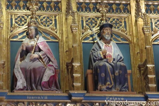 Hay una franja de reyes españoles. El rey Pelayo es mi preferido.