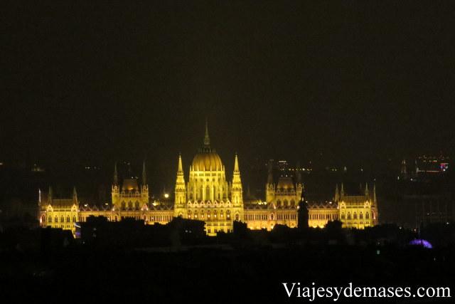 Vista del Parlamento desde el hotel.