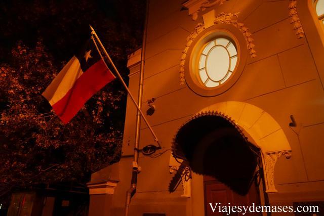 La entrada al consulado de Chile en Moscú.