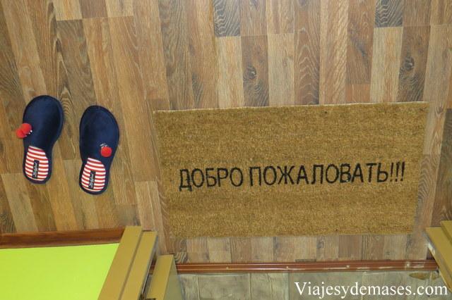 Los rusos se sacan los zapatos al entrar a sus casa.