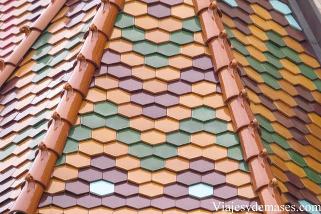 Detalle del techo de la iglesia.