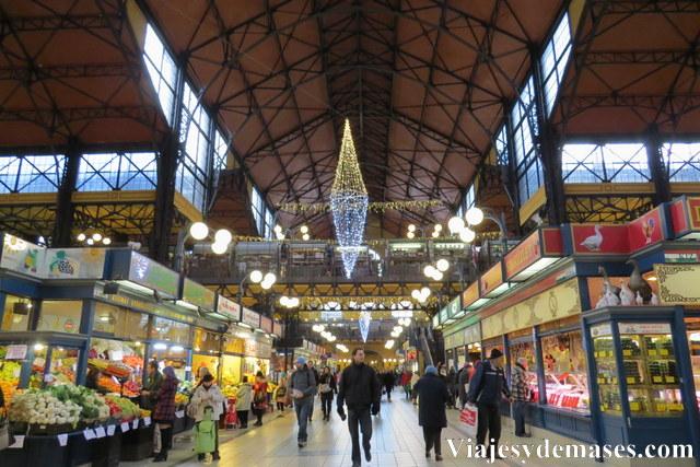 Mercado central de Budapest, Hungría.