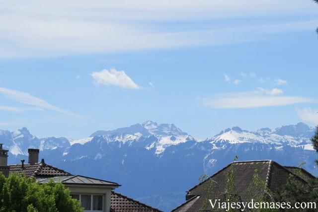 ¿Quién puede resistirse a esta vista de los Alpes?