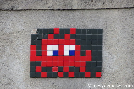 Space invader, Street-Art, Lausanne, Suiza