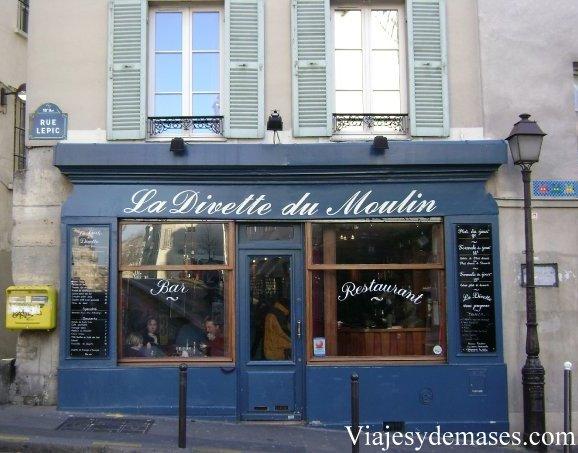 Un restaurant en Montmartre.