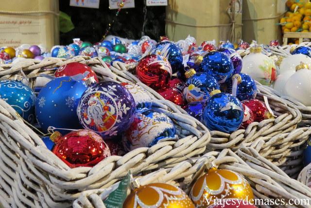 Adornos de Navidad en el GUM