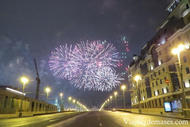 Fuegos artificiales, Moscú
