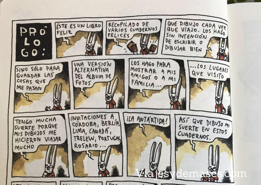 Liniers habla de sus viajes